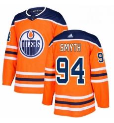 Mens Adidas Edmonton Oilers 94 Ryan Smyth Authentic Orange Home NHL Jersey