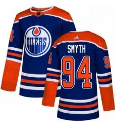 Mens Adidas Edmonton Oilers 94 Ryan Smyth Premier Royal Blue Alternate NHL Jersey