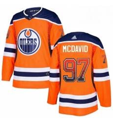 Mens Adidas Edmonton Oilers 97 Connor McDavid Authentic Orange Drift Fashion NHL Jersey