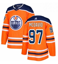 Mens Adidas Edmonton Oilers 97 Connor McDavid Premier Orange Home NHL Jersey