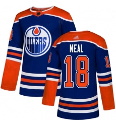 Oilers 18 James Neal Royal Alternate Authentic Stitched Hockey Jersey