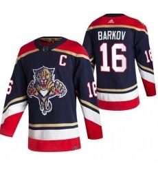 Men Florida Panthers 16 Aleksander Barkov Black Adidas 2020 21 Reverse Retro Alternate NHL Jersey