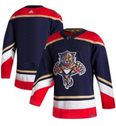 Men Florida Panthers Blank Navy 2020 21 Reverse Retro Adidas Jersey