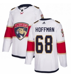 Mens Adidas Florida Panthers 68 Mike Hoffman Authentic White Away NHL Jersey