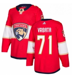 Mens Adidas Florida Panthers 71 Radim Vrbata Authentic Red Home NHL Jersey