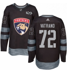 Mens Adidas Florida Panthers 72 Frank Vatrano Authentic Black 1917 2017 100th Anniversary NHL Jersey