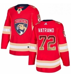 Mens Adidas Florida Panthers 72 Frank Vatrano Authentic Red Drift Fashion NHL Jersey