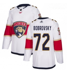 Panthers #72 Sergei Bobrovsky White Road Authentic Stitched Youth Hockey Jersey