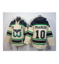 NHL Jerseys Hartford Whalers #10 Francis Black-Cream[Pullover Hooded Sweatshirt Patch C]