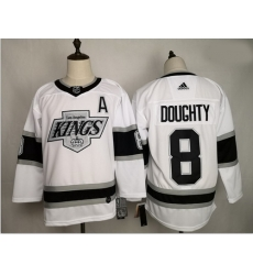 Kings 8 Drew Doughty White Adidas Jersey