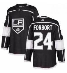 Mens Adidas Los Angeles Kings 24 Derek Forbort Premier Black Home NHL Jersey