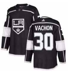 Mens Adidas Los Angeles Kings 30 Rogie Vachon Authentic Black Home NHL Jersey