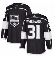 Mens Adidas Los Angeles Kings 31 Scott Wedgewood Authentic Black Home NHL Jersey
