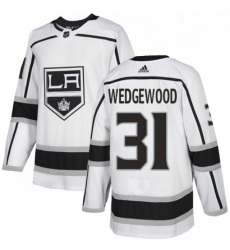 Mens Adidas Los Angeles Kings 31 Scott Wedgewood Authentic White Away NHL Jersey