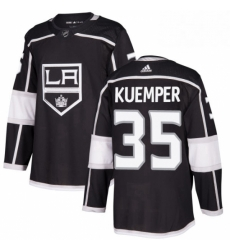 Mens Adidas Los Angeles Kings 35 Darcy Kuemper Premier Black Home NHL Jersey