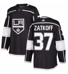 Mens Adidas Los Angeles Kings 37 Jeff Zatkoff Premier Black Home NHL Jersey