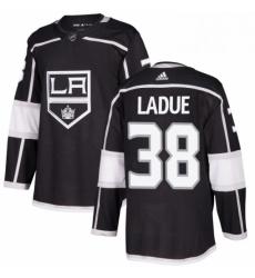 Mens Adidas Los Angeles Kings 38 Paul LaDue Authentic Black Home NHL Jersey