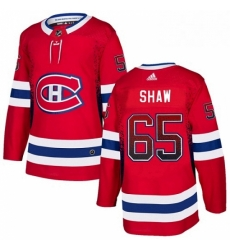 Mens Adidas Montreal Canadiens 65 Andrew Shaw Authentic Red Drift Fashion NHL Jersey