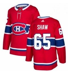 Mens Adidas Montreal Canadiens 65 Andrew Shaw Authentic Red Home NHL Jersey