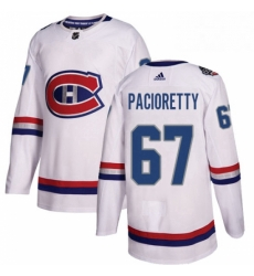 Mens Adidas Montreal Canadiens 67 Max Pacioretty Authentic White 2017 100 Classic NHL Jersey