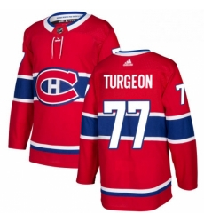 Mens Adidas Montreal Canadiens 77 Pierre Turgeon Authentic Red Home NHL Jersey
