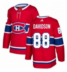 Mens Adidas Montreal Canadiens 88 Brandon Davidson Premier Red Home NHL Jersey