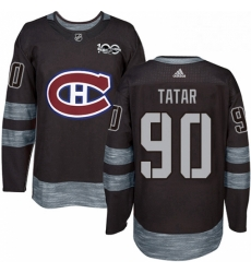 Mens Adidas Montreal Canadiens 90 Tomas Tatar Authentic Black 1917 2017 100th Anniversary NHL Jersey