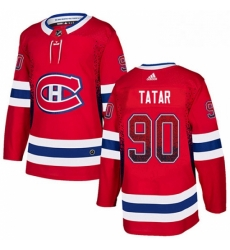 Mens Adidas Montreal Canadiens 90 Tomas Tatar Authentic Red Drift Fashion NHL Jersey