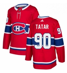 Mens Adidas Montreal Canadiens 90 Tomas Tatar Authentic Red Home NHL Jersey