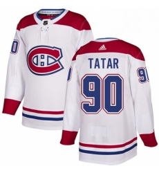 Mens Adidas Montreal Canadiens 90 Tomas Tatar Authentic White Away NHL Jersey