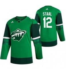 Men Minnesota Wild 12 Eric Staal Green 2020 Adidas Jersey