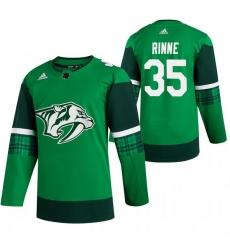 Men Nashville Predators 35 Pekka Rinne Green 2020 Adidas Jersey