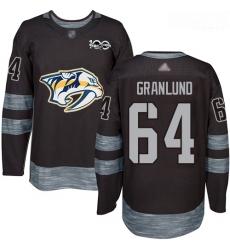 Predators #64 Mikael Granlund Black 1917 2017 100th Anniversary Stitched Hockey Jersey