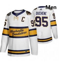 Predators 95 Matt Duchene White 2020 Winter Classic Adidas Jersey