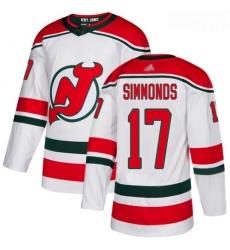 Devils #17 Wayne Simmonds White Alternate Authentic Stitched Hockey Jersey