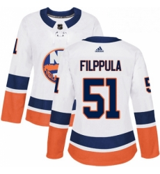 Womens Adidas New York Islanders 51 Valtteri Filppula Authentic White Away NHL Jersey