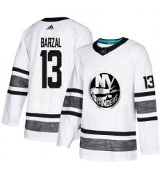 Youth Islanders #13 Mathew Barzal White 2019 All Star Stitched Hockey Jersey