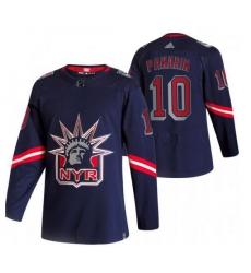 Women New York Rangers 10 Artemi Panarin Navy Adidas 2020 21 Reverse Retro Alternate NHL Jersey