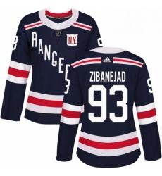 Womens Adidas New York Rangers 93 Mika Zibanejad Authentic Navy Blue 2018 Winter Classic NHL Jersey
