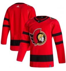 Men Ottawa Senators Blank Red 2020 21 Reverse Retro Adidas Jersey