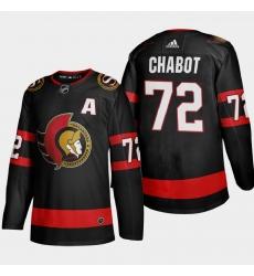 Ottawa Senators 72 Thomas Chabot Men Adidas 2020 21 Authentic Player Home Stitched NHL Jersey Black