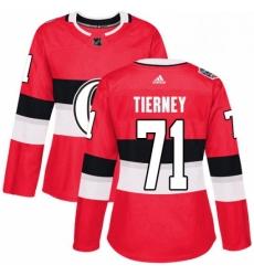 Womens Adidas Ottawa Senators 71 Chris Tierney Authentic Red 2017 100 Classic NHL Jersey