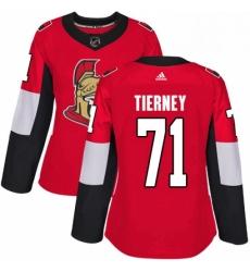 Womens Adidas Ottawa Senators 71 Chris Tierney Premier Red Home NHL Jersey