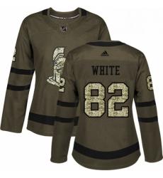 Womens Adidas Ottawa Senators 82 Colin White Authentic Green Salute to Service NHL Jersey