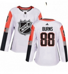 Womens Adidas San Jose Sharks 88 Brent Burns Authentic White 2018 All Star Pacific Division NHL Jersey