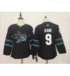 Youth Sharks 9 Evander Kane Black Youth Adidas Jersey