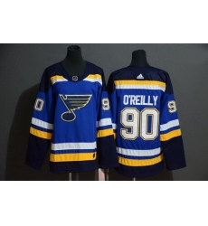 Blues 90 Ryan O 27Reilly Blue Adidas Jersey 901