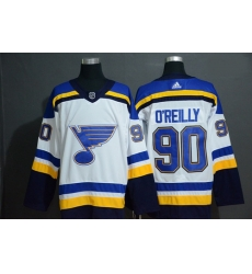 Blues 90 Ryan O 27Reilly White Adidas Jersey