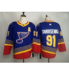 Blues 91 Vladimir Tarasenko Blue Adidas Jersey