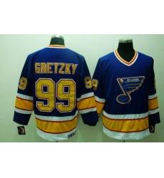 Blues #99 Wayne Gretzky Stitched Blue CCM Throwback NHL Jersey